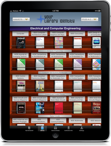 Browsable Newsstand of Library's Journals | BrowZine iPad App Screenshot