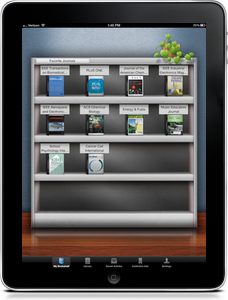 My Bookshelf | BrowZine iPad App Screenshot