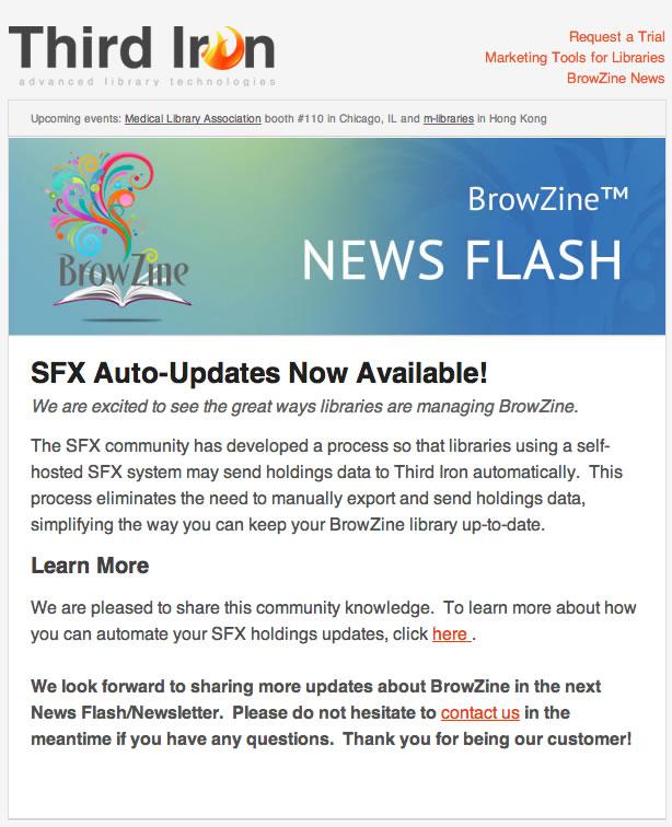 Newsflash May 15 - SFX Auto Updates